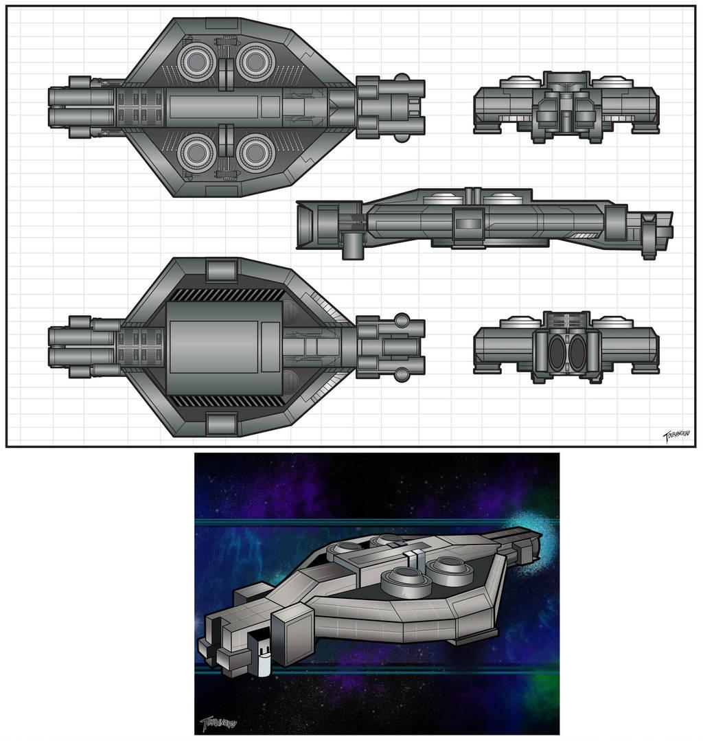 Shield Ship by stourangeau