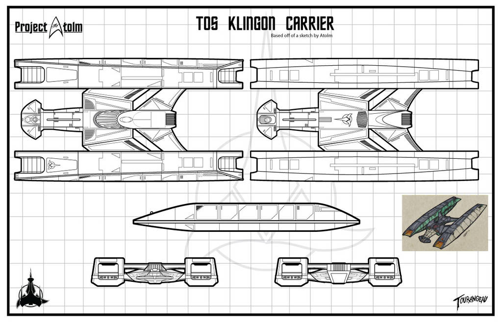 Atolm Inspired TOS Klingon Carrier by stourangeau