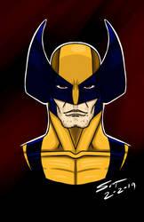 Wolverine headshot by stourangeau