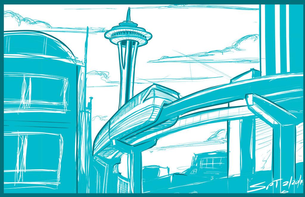 Seattle doodle by stourangeau