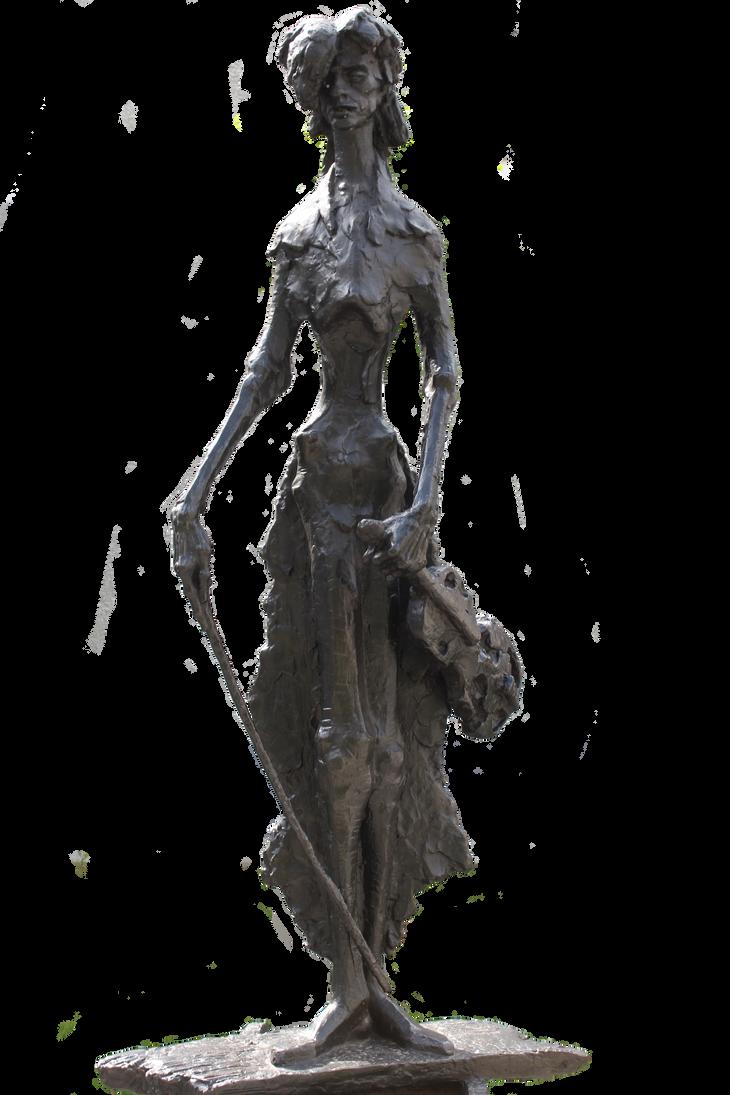 Violinist statute (No background)... by Dark-Indigo-Stock