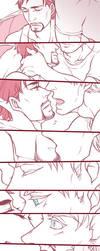 [Steve/Tony]International Kissing Day by shadowfree99