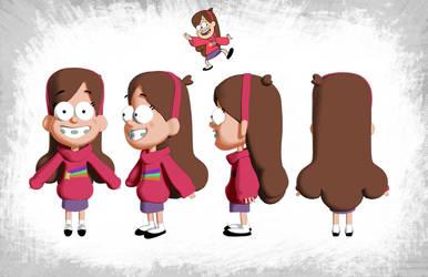 Mabel Gravity Falls 3D Model by SeamsLegit