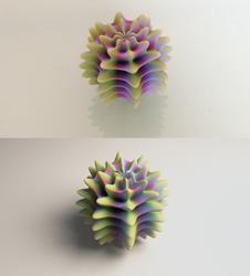 Alient Egg Print vs. Render by llewelld