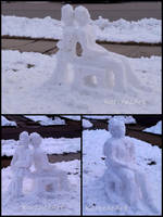 Snow Sculpture WIP by byKarenRenee