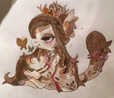 Gift art sketch by honey-fig