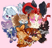a pile of fluff by honey-fig