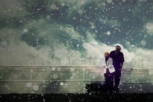 braving a harsh winter storm by hrtlsangel