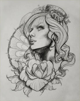 Tattoo Design Sketch 1 by illogan