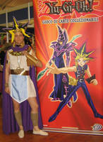 Atem and his poster by Cospoison