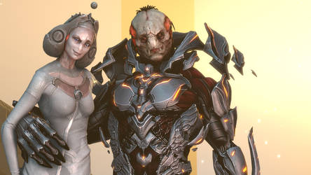 Didact, with Librarian. by Koldraxon