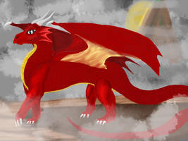 Fire Dragon of the east by Meazigread