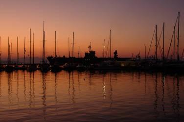 Gaeta Harbor in the morning II by immauss
