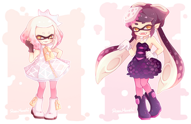 Pearl and Callie by RosaManeki