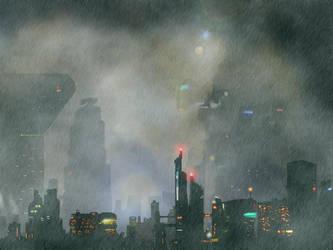Neo-Noir Future City by Garland220