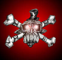 Metal Skull 'n' Crossbones by Richard-Daborn