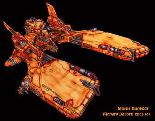Mortis Gunboat by Richard-Daborn