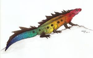 salamander-like creature by Liedeke