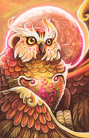 Spirit of the Forest: Fantasy Owl by KeeperofAges