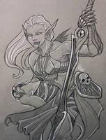Bladesworn Vampiress- Inktober by KeeperofAges