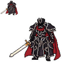 Black Knight sprite (fire emblem) by alexmauricio407