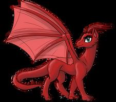 -Aelwen Dragon Form- by InkRose98