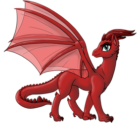 -Aelwen Dragon Form- by InkRose98