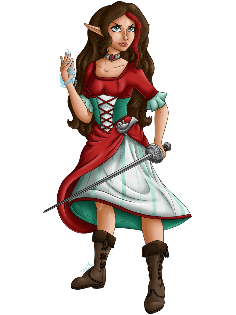 Aelwen Chracter Illustration 2 by InkRose98