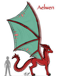 Aelwen Dragon Design Update by InkRose98