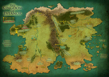 Map of Eveanor (Dragon Queen) by InkRose98