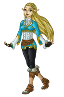 Breath of the Wild Zelda by InkRose98