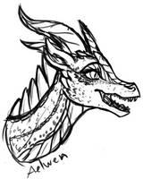 Aelwen Sketch by InkRose98