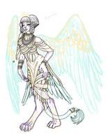 Sphinx WIP by InkRose98