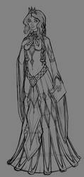 Aelwen Redesign WIP Sketch by InkRose98