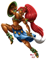Urbosa (No Background) by InkRose98