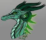 Empress Kaleign Portrait Sketch by InkRose98