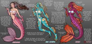 Seafolk of Eveanor Concept Art by InkRose98