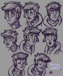 Chris Faraday Facial Expressions by InkRose98