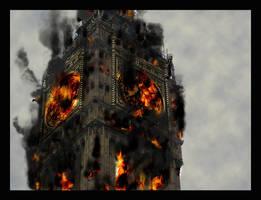 Fire In The Clocktower by FiniteAnarchy