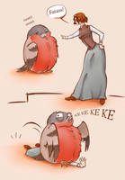 Bullfinch and his mistress by ArianLin