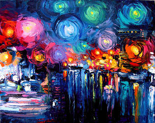 Midnight Harbor XIX by sagittariusgallery