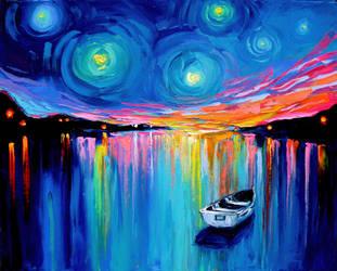 Midnight Harbor XXVIII by sagittariusgallery