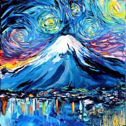 van Gogh Never Saw Mount Fuji by sagittariusgallery
