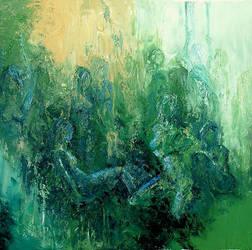 Nymphs in the Garden of Eden by sagittariusgallery