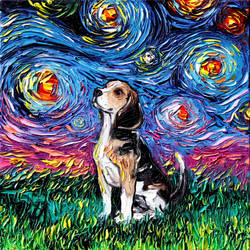 Beagle Night by sagittariusgallery