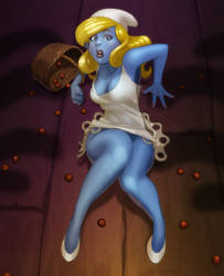 Smurfette: Scared Smurfless. by digitalgil