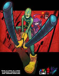 kickass and hitgirl. by Gashi-gashi