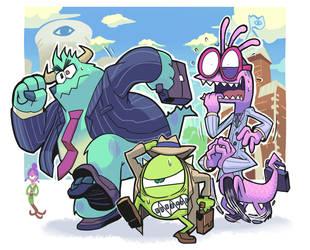 Monsters job hunting by Gashi-gashi