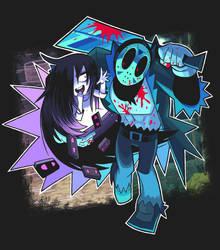 Jason and Sadako by Gashi-gashi