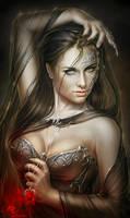 La Rose Noire by Helga-Helleborus